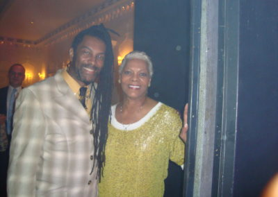 Cuttie Williams with Dionne Warrick
