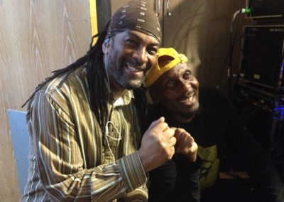 Cuttie Williams with Jimmy Cliff
